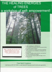 Healing energies of trees workshop flyer